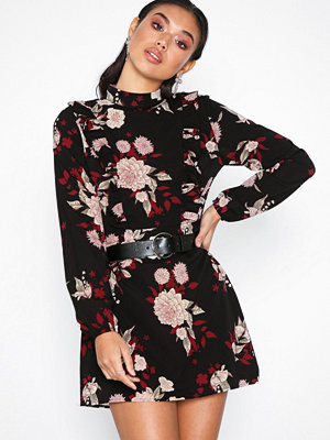 Ax Paris Flower Mini Dress Black