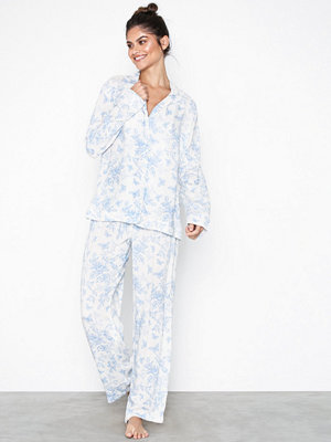 Pyjamas & myskläder - Topshop Printed Shirt and Trousers Pyjama Set Light Blue