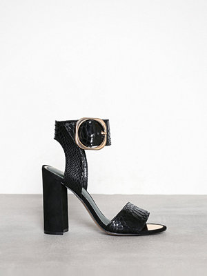 Pumps & klackskor - River Island Block Heel Sandal Black