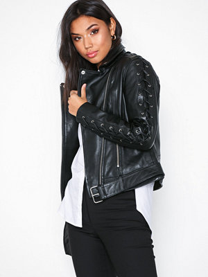 Y.a.s Yaslucca Leather Jacket Svart