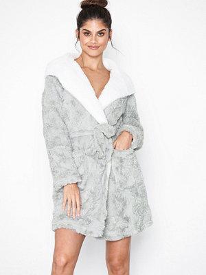 Topshop Faux Fur Fluffy Robe Grey