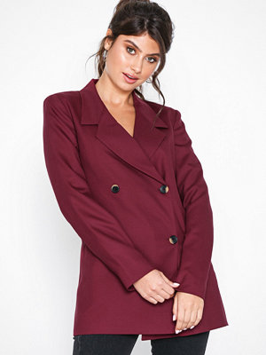 Selected Femme Slfmargot Ls Double Breasted Blazer Mörk Lila