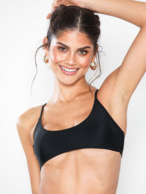 Missguided Sporty Cross Back Bikini Top Black
