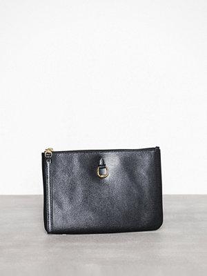 Lauren Ralph Lauren svart kuvertväska Pouch Wristlet Large Black