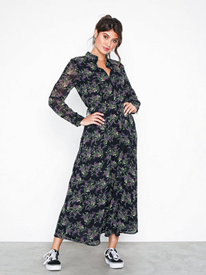 Object Collectors Item Objcaroline L/S Long Dress a Q Svart
