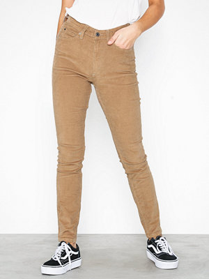 Calvin Klein Jeans beige byxor High Rise Skinny Corduroy Tannin
