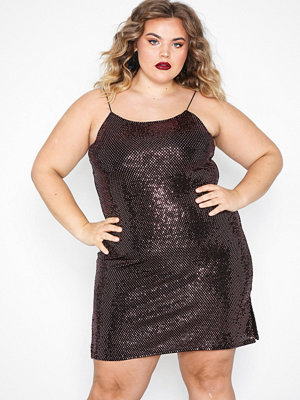 NLY Trend Sparkling Strappy Dress Rosa