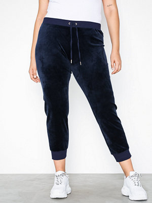 Juicy Couture marinblå byxor Luxe Velour Zuma Pant