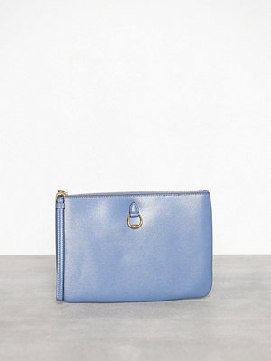 Lauren Ralph Lauren himmelsblå kuvertväska Pouch Wristlet Large Blue