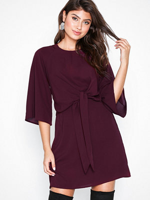 Ax Paris Knot Front Dress Plum