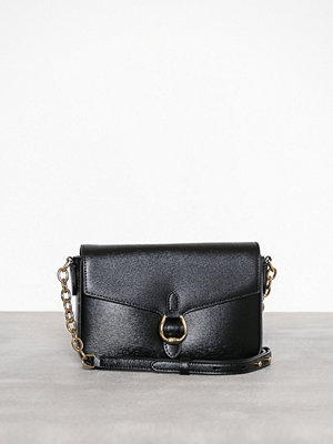 Lauren Ralph Lauren svart axelväska Flap Crossbody Medium