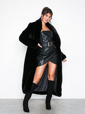 Missguided Faux Fur Belted Maxi Coat