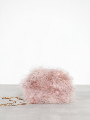 Missguided axelväska Round Feather Clutch Pink