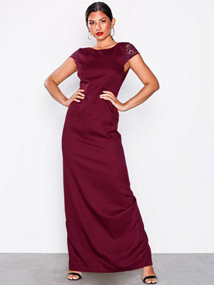 NLY Eve V Back Slit Gown Burgundy