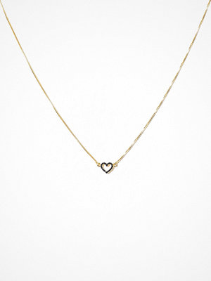 Syster P halsband Snap Necklace Heart Stones Guld