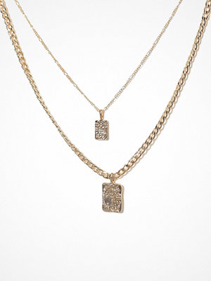 Pieces smycke Pcollie Combi Necklace D2D Guld