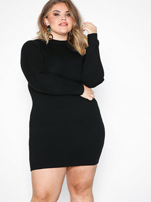 Missguided High Neck Long Sleeve Jumper Dress Black