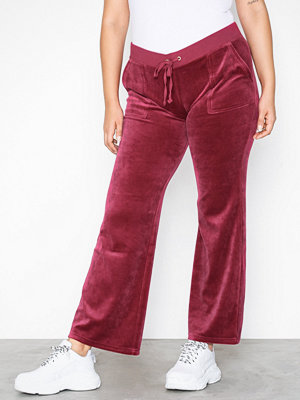 Juicy Couture omönstrade byxor Velour Del Rey Pant Pomegranate