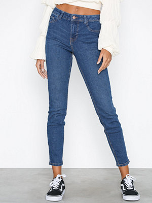 New Look Wow Ripped Skinny Jeans Mid Blue