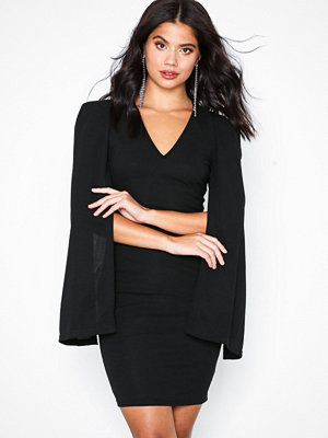 Ax Paris Open Long Sleeve Dress Black