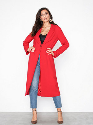Selected Femme Slfbarbara Ls Long Blazer True Red
