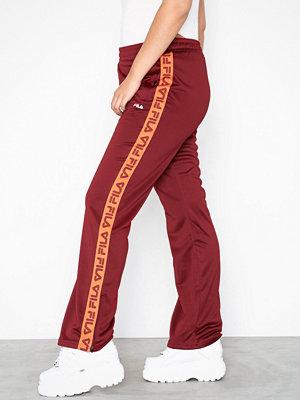 Fila vinröda byxor med tryck Women THORA Track Pants