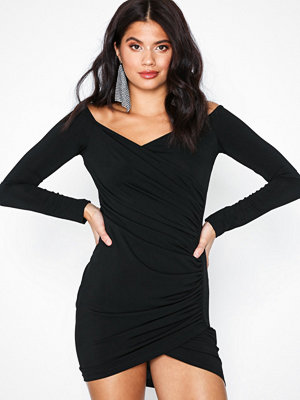 Ax Paris Long Sleeve Offshoulder Dress Black