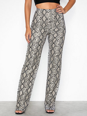 NLY One mönstrade byxor Crepe Print Pant Snake
