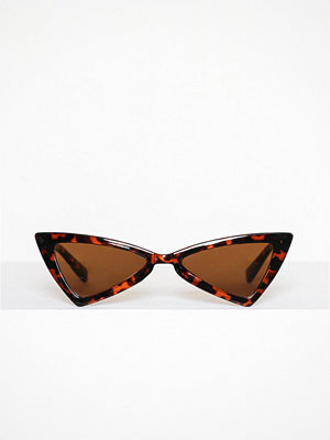 Missguided Angled Sunglasses Brown