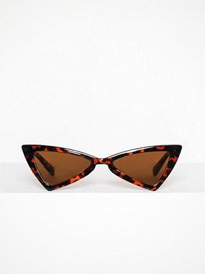 Solglasögon - Missguided Angled Sunglasses Brown