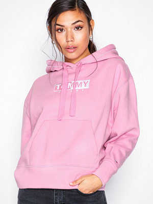 Tommy Jeans Tjw Clean Logo Hoodie Rosa