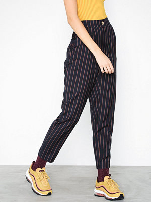 New Look randiga byxor Pinstripe Slim Leg Trousers Blue
