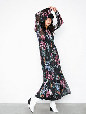 Object Collectors Item Objana L/S Boho Long Dress a Bfsd Svart