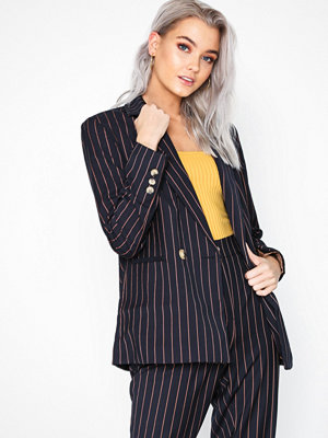 New Look Pinstripe Double Breasted Blazer