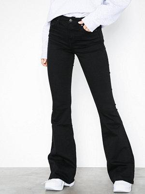 Topshop Flared Jamie Jeans Black