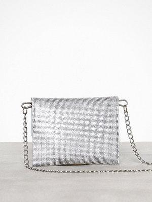Missguided vit axelväska Diamante Bag
