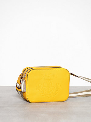 Lauren Ralph Lauren gul axelväska Camera Bag-Crossbody-Medium