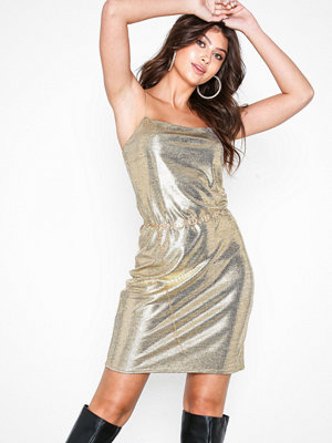 NLY Trend Disco Strappy Dress Guld