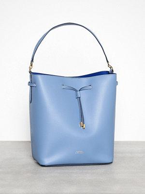 Lauren Ralph Lauren himmelsblå axelväska Debby-Drawstring-Medium Blue