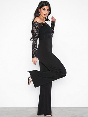 NLY One Off Shoulder Lace Jumpsuit