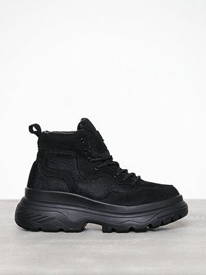 Missguided Double Sole Hiking Sneaker Boot Black