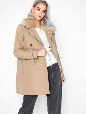 River Island Tito Fur Collar Coat