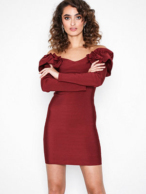 Wow Couture Ivy Ruffle Off Shoulder Dress