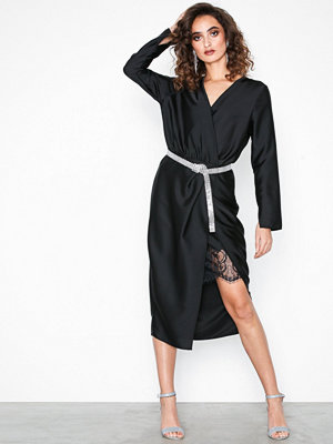 River Island LS Thandie Waisted Dress