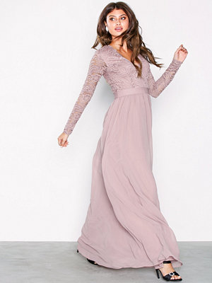NLY Eve Scalloped Lace Top Gown Rose
