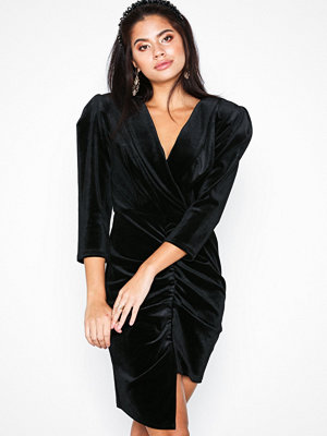 River Island Ls Velvet Ruched Dress