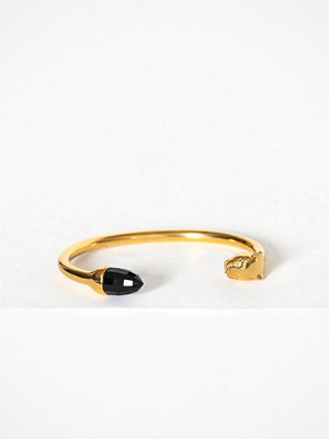 Syster P armband Panthera Bangle Rose Quartz Guld