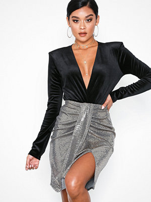 NLY One Sequins Skirt Guld