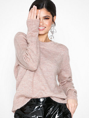 Object Collectors Item Objnete L/S Knit O-Neck Pullover Se Ljus Rosa
