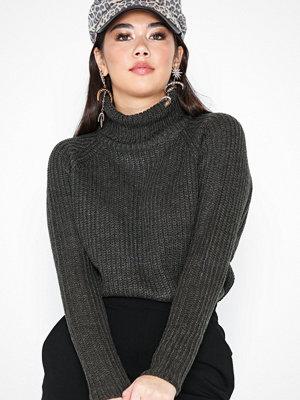 Jacqueline de Yong Jdyjusty L/S High Neck Noos Pullove Mörk Grå